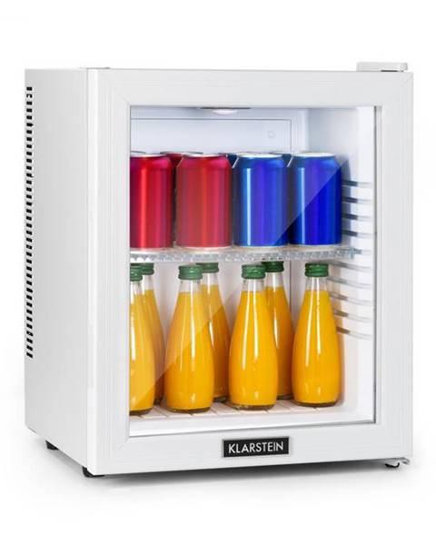Klarstein Klarstein Brooklyn 24 White, mini chladnička, energetická trieda A, sklenené dvere, LED, polica, biela