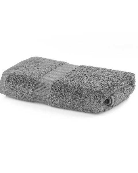 DecoKing Sivý uterák DecoKing Marina, 50 × 100 cm
