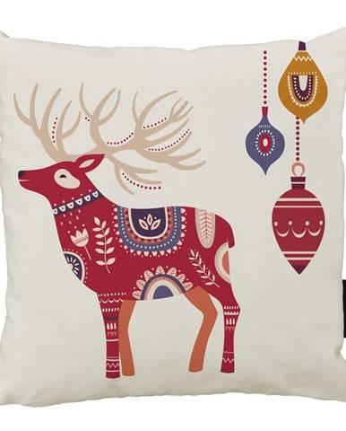 Vianočný vankúš s bavlnenou obliečkou Butter Kings Folk, 45 x 45 cm