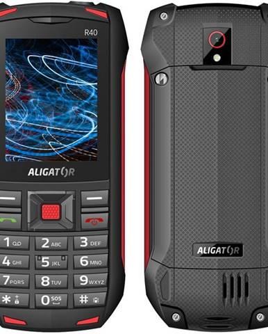 Mobilný telefón Aligator R40 eXtremo čierny/červený