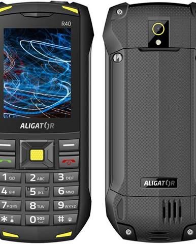 Mobilný telefón Aligator R40 eXtremo čierny/žltý