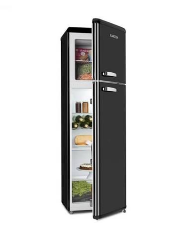 Klarstein Audrey Retro retro kombinácia chladničky s mrazničkou, 194 l/56 l, A++, čierna