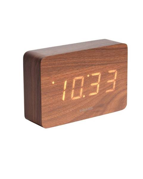 Karlsson Karlsson 5653DW Dizajnové LED stolné hodiny s budíkom, 15 x 10 cm