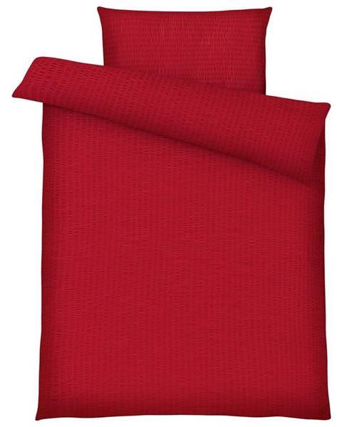 Möbelix Posteľná Bielizeň Brigitte, 140/200cm, Červená