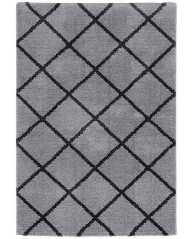Tkaný Koberec Montreal 1, 80/150cm, Sv.sivá