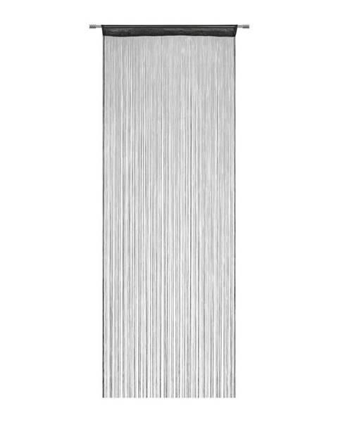 Möbelix Nitkový Záves Franz, 90/245 Cm, Čierna