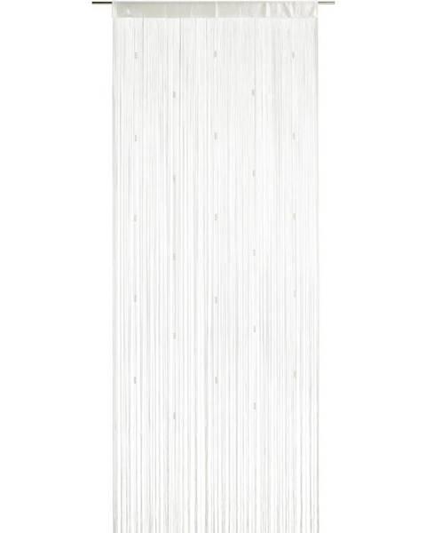 Möbelix Nitkový Záves Perle, 90/245 Cm, Biela