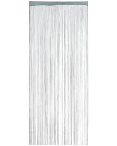 Nitkový Záves Franz, 90/245cm, Modrá