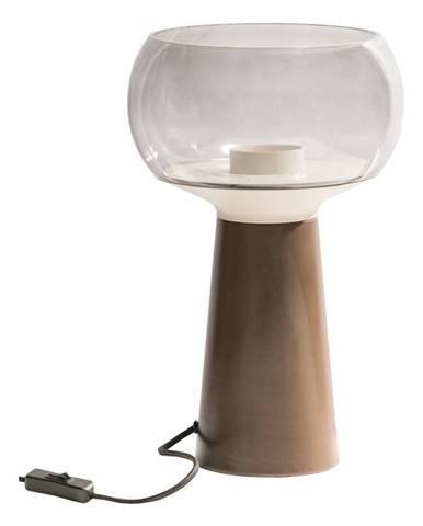 Hnedá kovová stolová lampa BePureHome, výška 37 cm