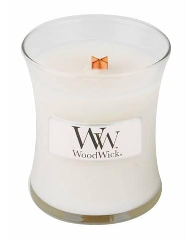 Sviečka s vôňou čerstvo vypratej bielizne WoodWick Čistá bielizeň, doba horenia 20 hodín horenia