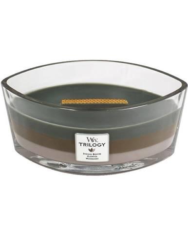 Trojvrstvová sviečka WoodWick Útulný zrub, 30 hodín horenia