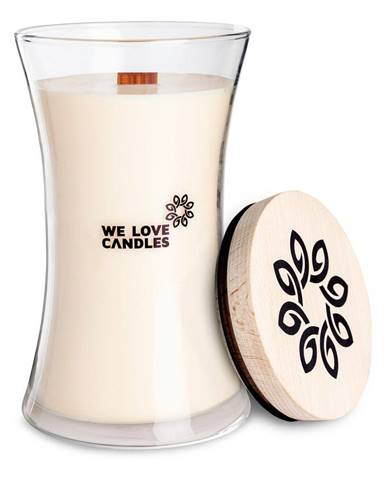Sviečka zo sójového vosku We Love Candles Ivory Cotton, doba horenia 150 hodín