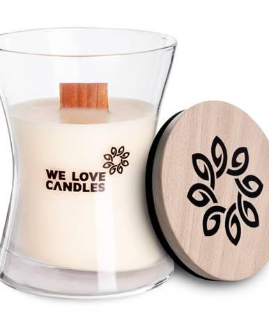 Sviečka zo sójového vosku We Love Candles Ivory Cotton, doba horenia 48 hodín