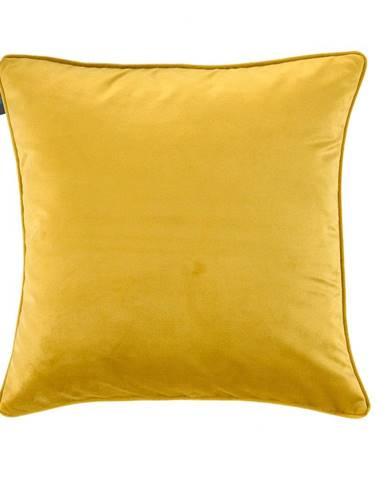 Žltá obliečka na vankúš WeLoveBeds Dijon, 50 × 50 cm