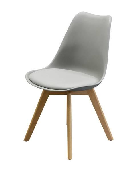 IDEA Nábytok Jedálenská stolička QUATRO sivá
