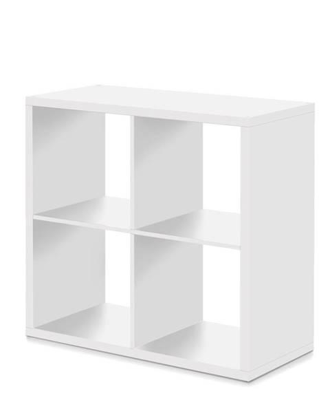 IDEA Nábytok Knižnica MAX 4 kocka biela
