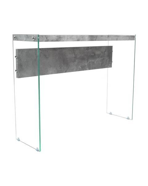 IDEA Nábytok Odkladací stolík sklo/MDF