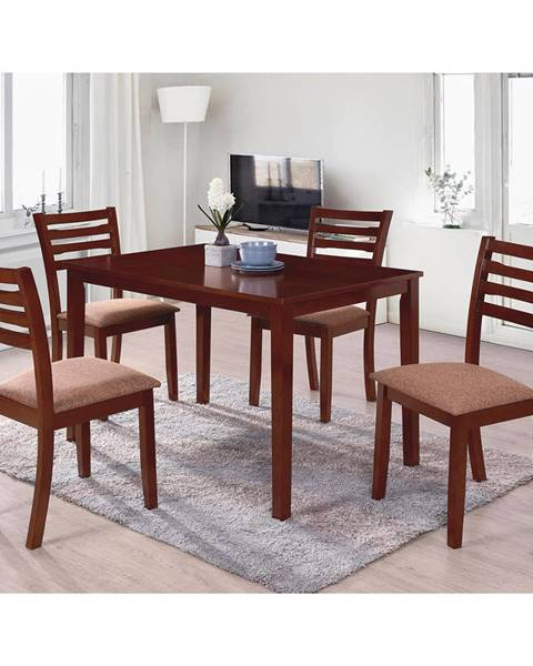 IDEA Nábytok Stôl + 4 stoličky BARCELONA lak čerešňa