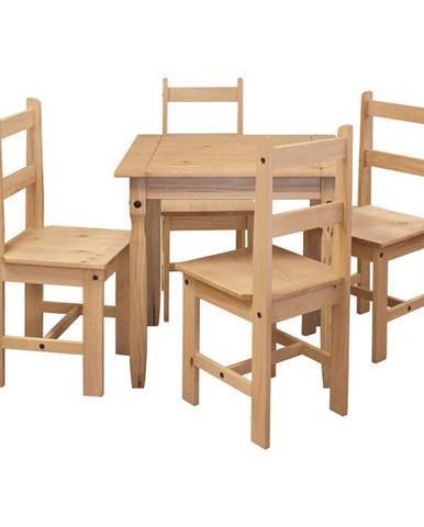 Jedálenský stôl 16117 + 4 stoličky 1627 CORONA 2