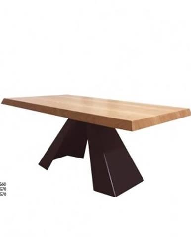 Drewmax Konferenčný stolík Metal ST371 / dub