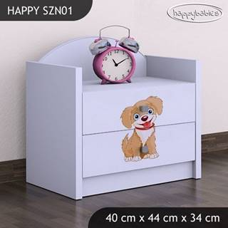 Happy Babies Nočný stolík HAPPY/ 13 Psík hnedý SZN01