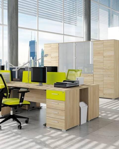 MLnábytok MLnábytok Kancelársky stôl OPTIMAL 15 / sonoma svetlá