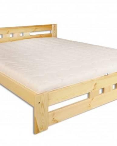 Drewmax Manželská posteľ - masív LK117 / 180 cm borovica
