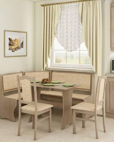 WIP WIP Rohový set so stoličkami