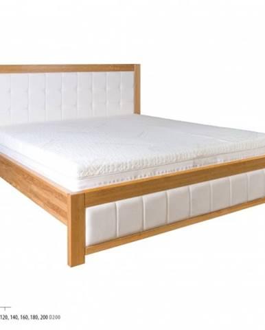 Drewmax Manželská posteľ - masív LK214   140 cm dub