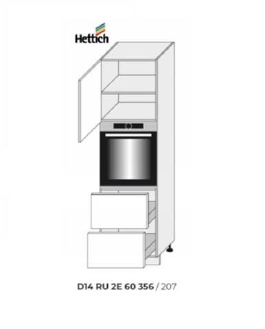 ArtExt Kuchynská skriňa Napoli D14/RU/2E 284 POVRCHOVÁ ÚPRAVA DVIEROK