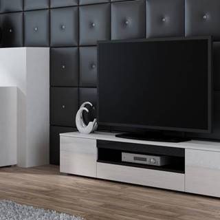 Artcam TV stolík Viva biela/biely lesk/čierna