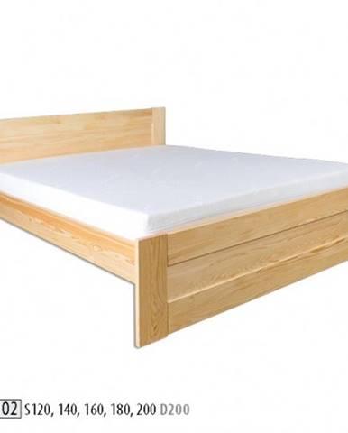 Drewmax Jednolôžková posteľ - masív LK102 | 120 cm borovica