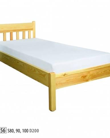 Drewmax Jednolôžková posteľ - masív LK156 | 80 cm borovica