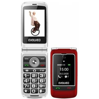 Mobilný telefón Evolveo EasyPhone FG červený