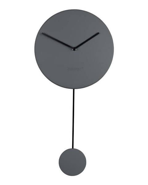 Zuiver Sivé nástenné hodiny Zuiver Minimal