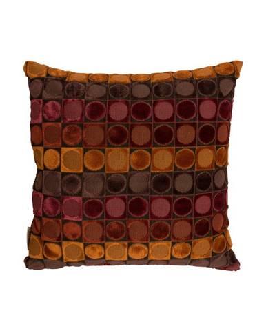 Červeno-oranžový vankúš Dutchbone Ottava, 45×45 cm