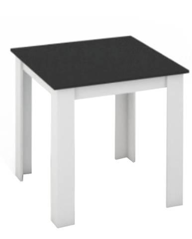 Jedálenský stôl biela/čierna 80x80 KRAZ