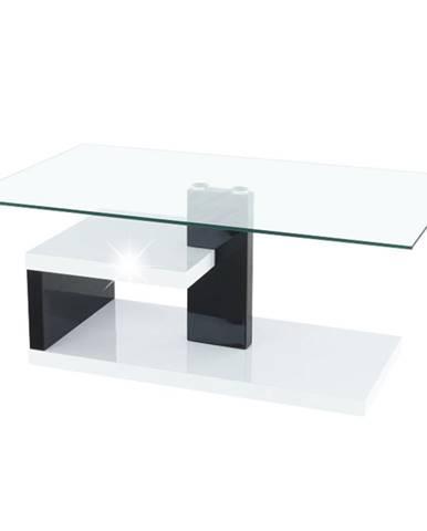 Konferenčný stolík biela extra vysoký lesk HG/čierna extra vysoký lesk HG LARS NEW