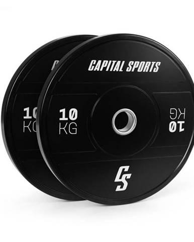 Capital Sports Elongate 2020, kotúče, 2 x 10 kg, tvrdá guma, 50,4 mm