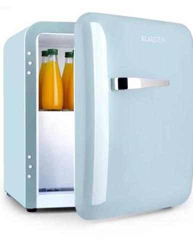 Klarstein Audrey, mini chladnička, EEC A+, mraziaci priečinok, LED, pastelovo modrá