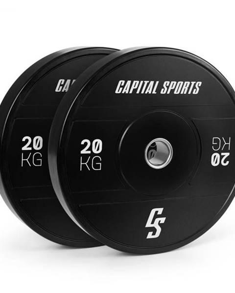 Capital Sports Capital Sports Elongate 2020, kotúče, 2 x 20 kg, tvrdá guma, 50,4 mm