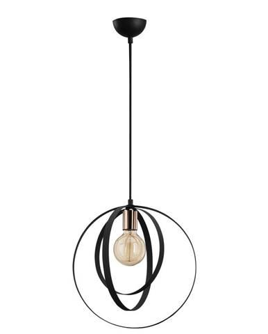 Čierne závesné svietidlo Opviq lights Vaveyla