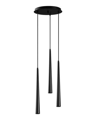 Čierne závesné svietidlo pre 3 žiarovky Opviq lights Uğur Drop