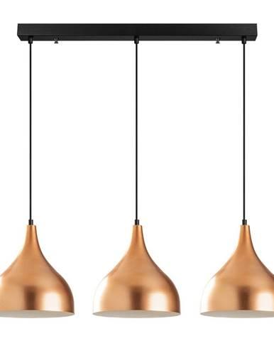 Závesné svietidlo pre 3 žiarovky v medenej farbe Opviq lights Sağlam