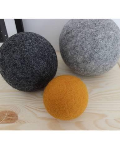 Sada 3 dekoratívnych vlnených gúľ Wooldot Ball Set Sunflower