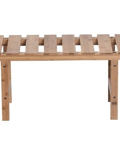 Príručný stolík k vírivke v tvare obdĺžnika prírodný bambus VIREO TYP 4