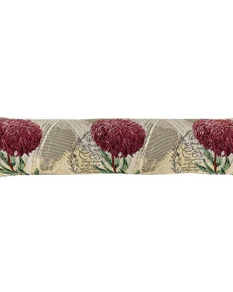 Kvalitex Boma Trading Ozdobný tesniaci vankúš do okien Chryzantéma fialová, 90 x 20 cm
