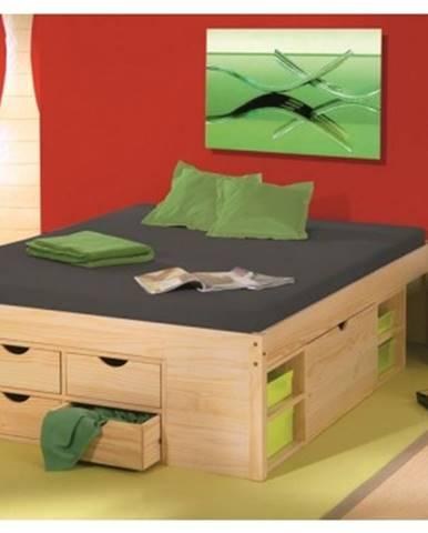 Úložná posteľ s nočnými stolíkmi Claas 160x200 cm%