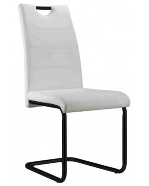 ASKO - NÁBYTOK Jedálenská stolička Queens, biela ekokoža%