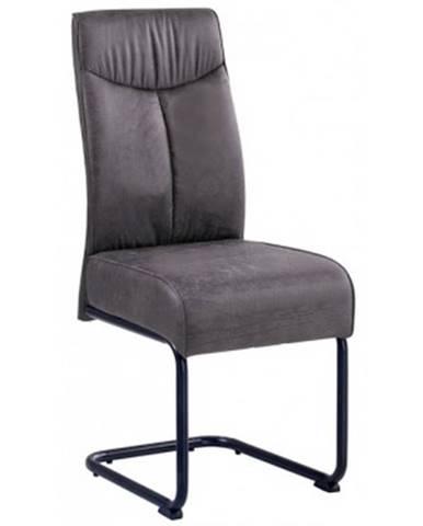 Jedálenská stolička York, tmavo šedá vintage látka%